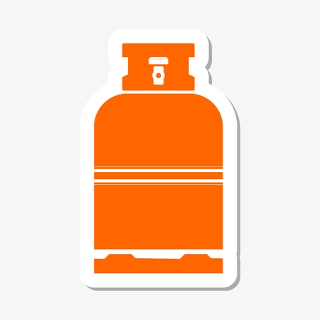 butane: Gas bottle vector icon Illustration