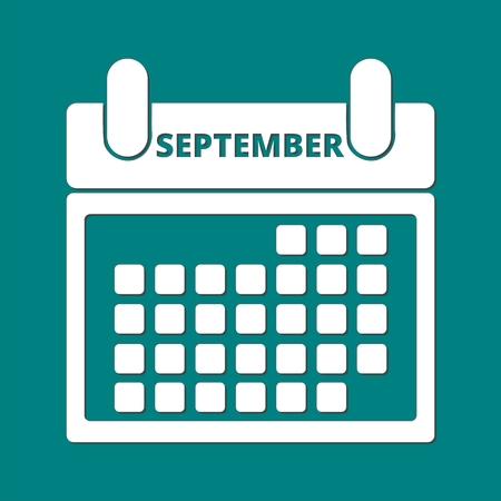 september: Calendar september Illustration