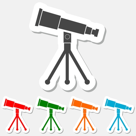 parabolic mirror: Telescope icon sticker set