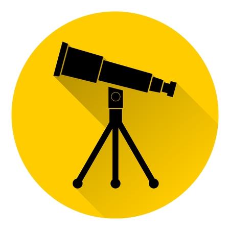 parabolic mirror: Telescope icon