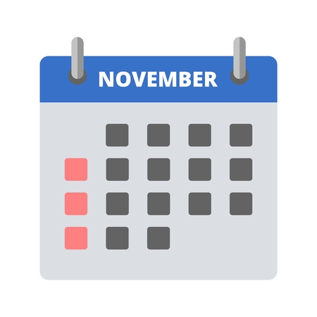 Calendar icon November Illustration