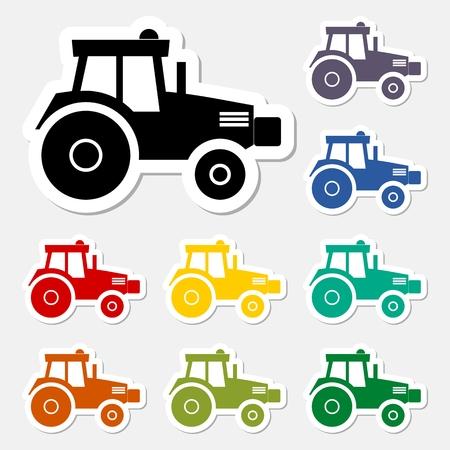 humus: Tractor sticker set