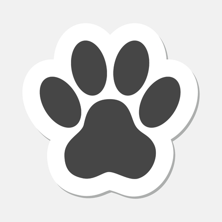 Paw Print Sticker - Illustration Vettoriali