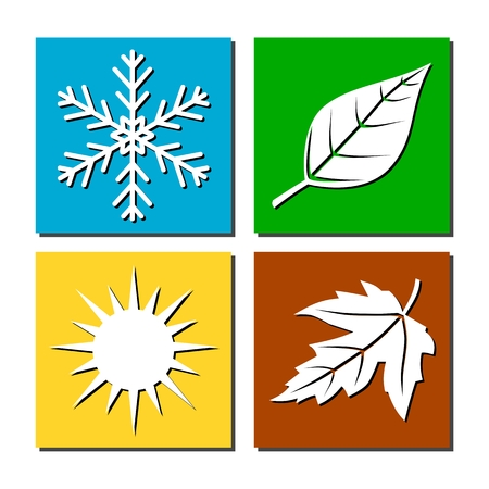 Vector illustration of seasons Фото со стока - 52796812