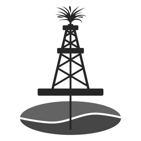 Ölbohrinsel, Öl Gusher Vektorgrafik