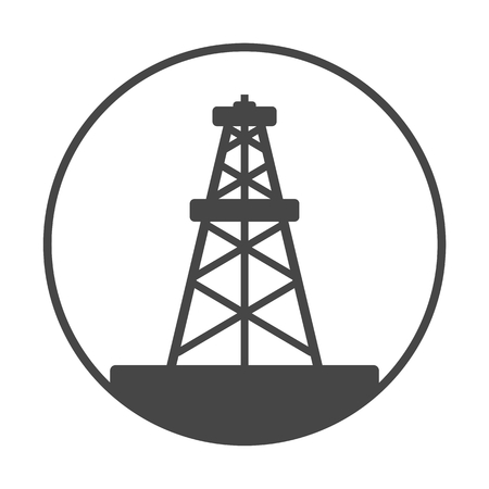 gusher: Oil rig, Oil Gusher icon Illustration