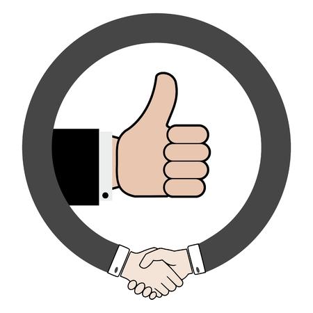 facilitating: Handshake, handling with itself, funny
