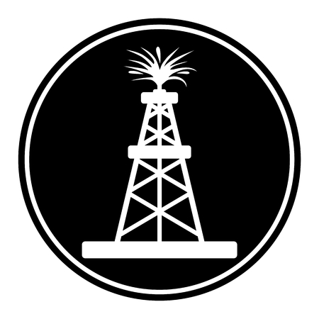 oilwell: Oil rig, Oil Gusher icon Illustration