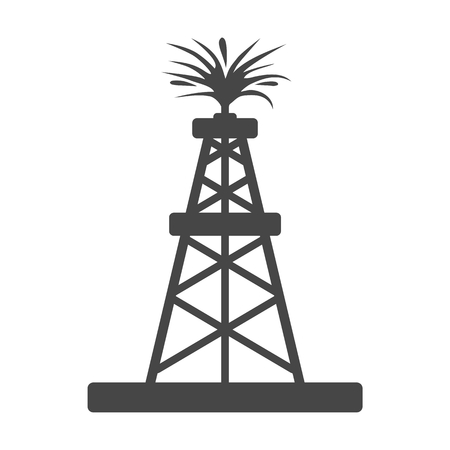 oilwell: Oil rig, Oil Gusher sticker icon Illustration
