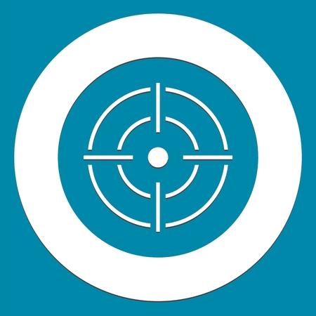 radar gun: Vector target icon, Crosshair, red background