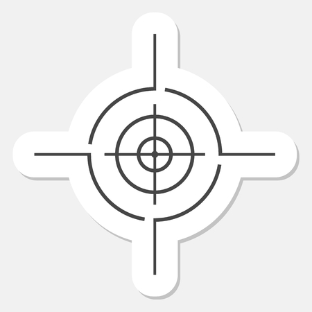 Vector target icon, Crosshair