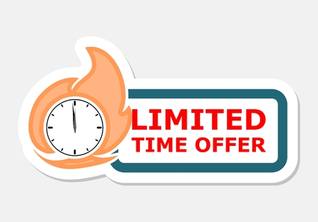 limited time: Limited time offer sticker Illustration