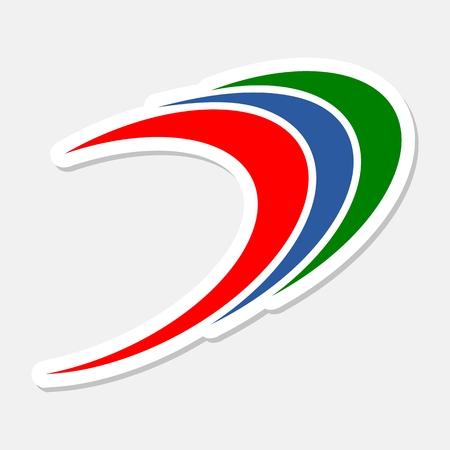 bucle: Swirl loop finance abstract logo sticker