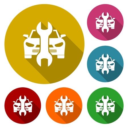auto service: Car service vector icons, Auto repair icons Illustration