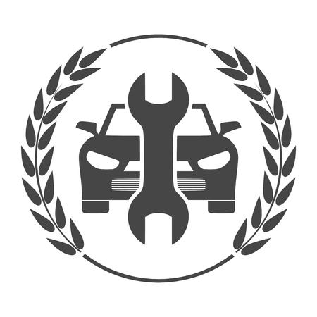 Serwis samochodowy ikona wektor, ikona naprawy samochodów