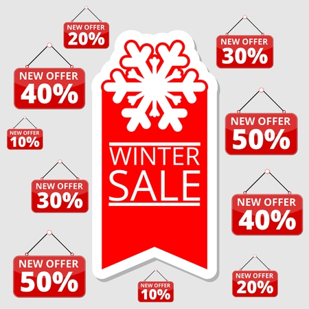 special offers: Shopping special offers, discounts and promotions, winter sale