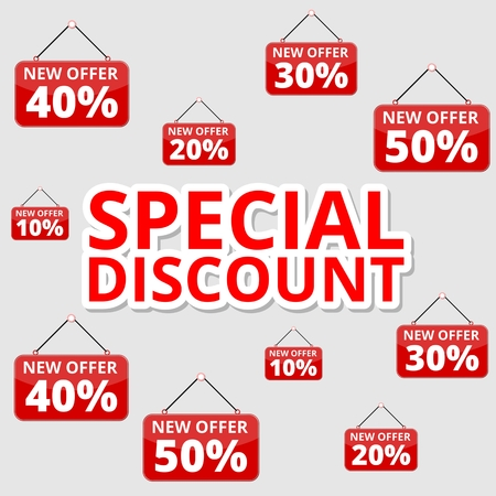 special offers: Shopping special offers, discounts and promotions, special discount