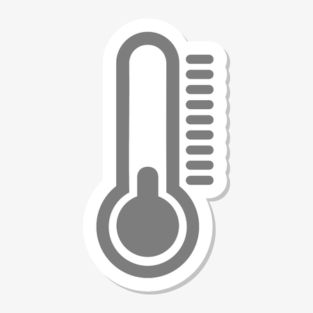 volumetric flask: Thermometer icon stickers Illustration