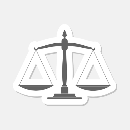 scale of justice: Justice scale stickers Illustration