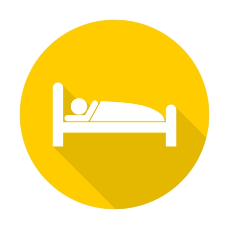 Sleeping symbol with long shadow