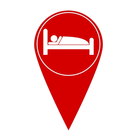 information icon: Sleeping symbol map pointer