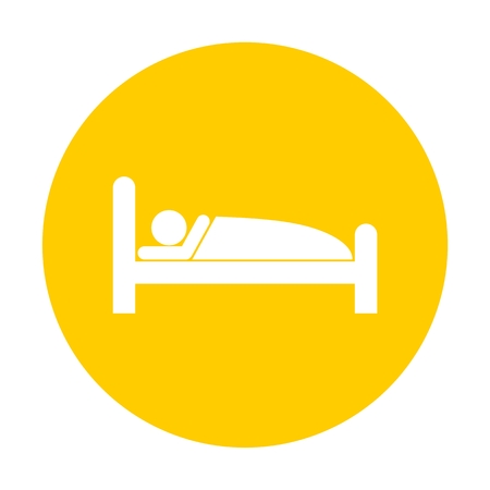 symbol yellow: Sleeping symbol yellow button