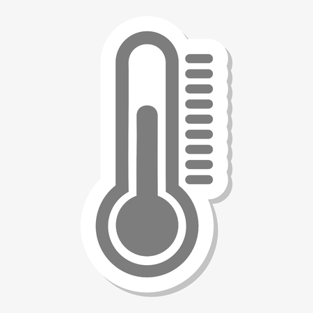 Thermometer icon stickers Ilustração