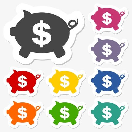 money box: Money Box stickers set