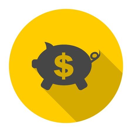 money box: Money Box with long shadow Illustration