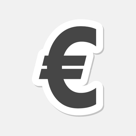 eur: Euro sign stickers, EUR currency symbol, Money label