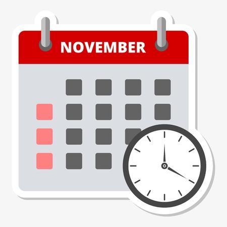 2 months: Calendar sticker november, Meeting Deadlines sticker