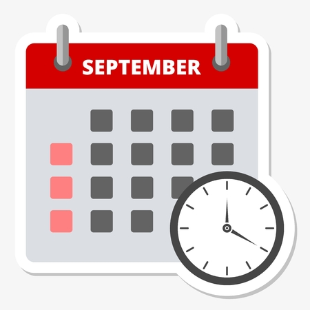 Calendar icon September, Meeting Deadlines icon Illustration