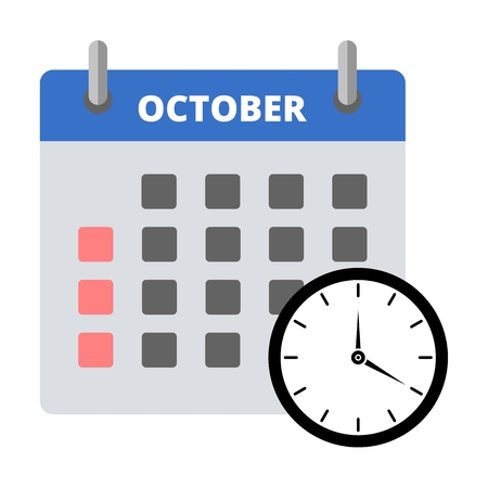 Calendar icon october, Meeting Deadlines icon Illustration