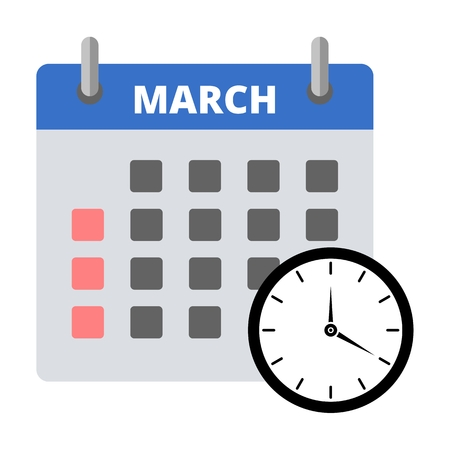 Calendar icon march, Meeting Deadlines icon Illustration