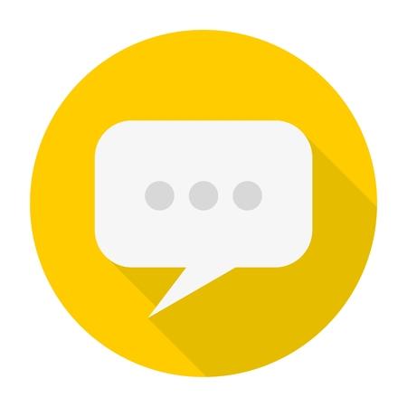 tweet balloon: Blog icon with long shadow