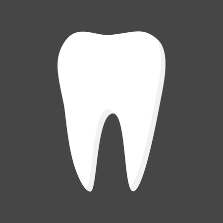 tooth icon: Tooth Icon on black background Illustration
