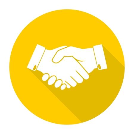 partnership icon: Partnership icon with long shadow