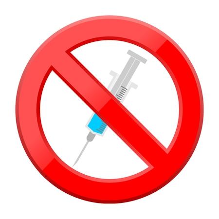 inoculation: Medical syringe icon no sign