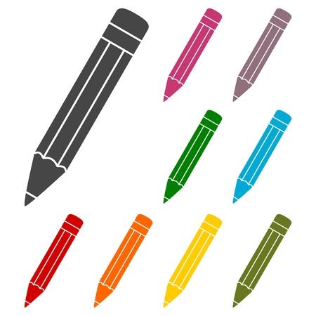 compose: Compose icon, pencil set Illustration