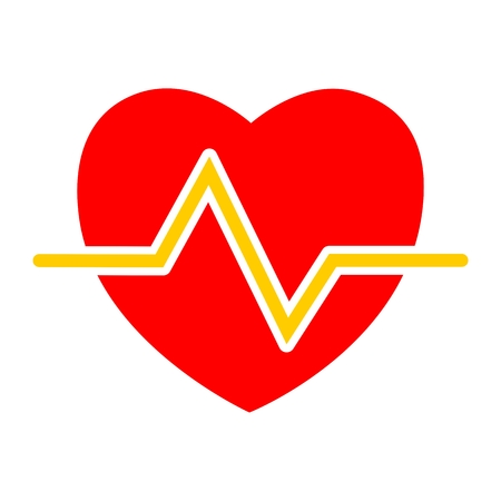 electrocardiograph: Heartbeat icon Illustration