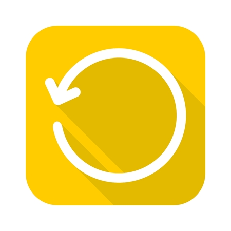 refresh icon: Refresh icon with long shadow