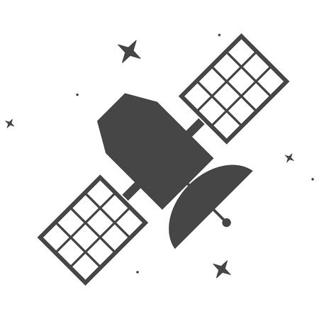 transponder: Satellite icon Illustration