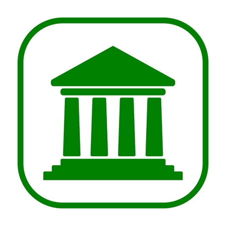 governmental: Bank building icon, Court building icon Illustration