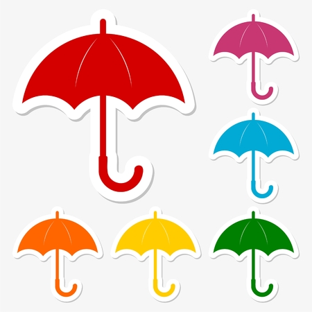 nylon: Umbrella icons set Illustration