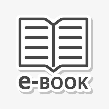 e book reader: E-Book sign icon sticker