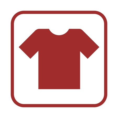v neck: T-shirt sign icon, Clothes symbol Illustration