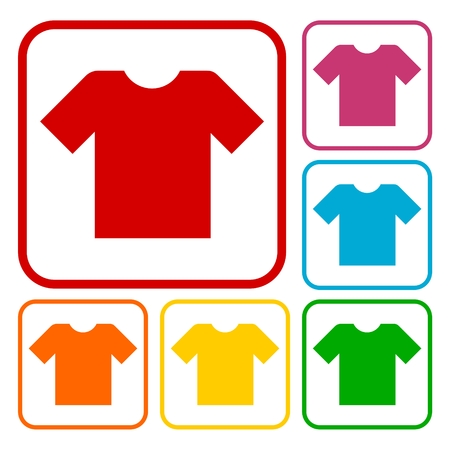 t shirt printing: T-shirt sign icon, Clothes symbol Illustration