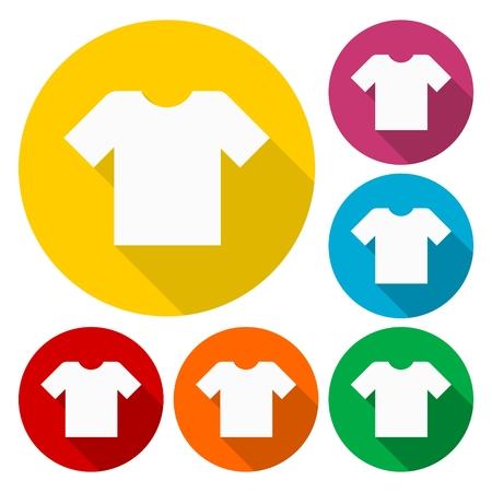t shirt blouse: T-shirt sign icon, Clothes symbol set Illustration