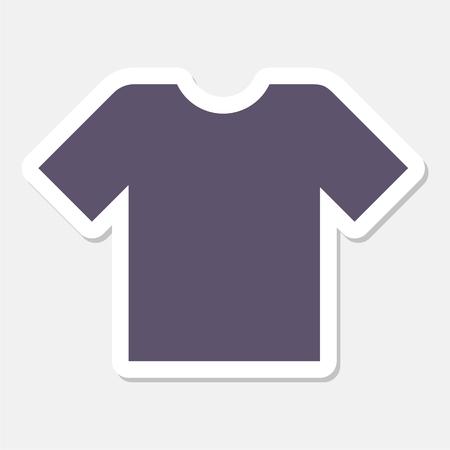v neck: T-shirt sign icon, Clothes symbol sticker Illustration
