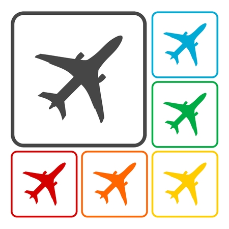 private jet: Plane icons Illustration